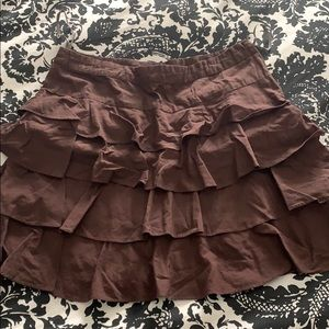 Anthropologie Odille Ruffle Skirt Size 4